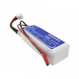850mAh 9.44Wh Li-Polymer...