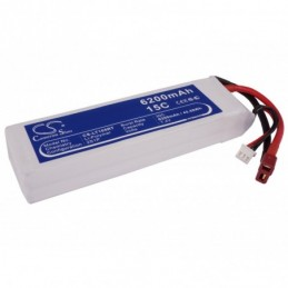 6200mAh 45.88Wh Li-Polymer...